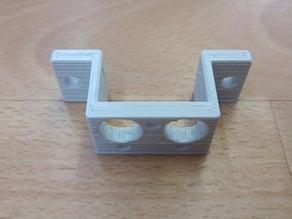Dual Bowdenhotend Adapter für Sparkcube (E3D v6Chimera Clone)