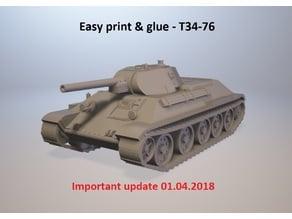 Easy print & glue - T34-76