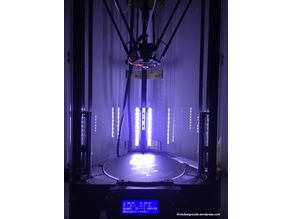 Add light for Delta / Kossel 3D printer