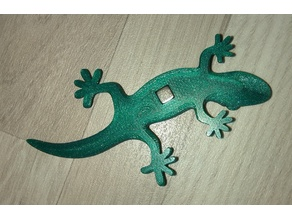 Gecko with magnet 5x5x5mm cube