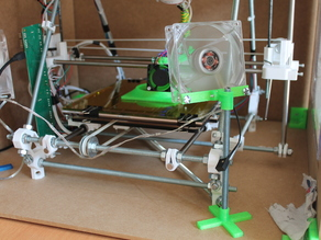 Cooling fan support for any 3D printer 80mm, 92mm and 120mm fans