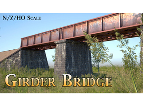 Girder Bridge - Model Railway (N/HO/Z Scale)