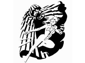 Cloak and Dagger stencil