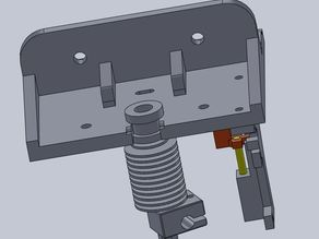 K8200 Base for E3DV6 1.75 Bowden and Greg's Wade reloaded Extruder