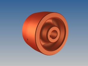 "Linisher crowned drive wheel for 2"" wide belt"