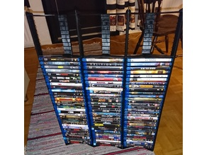 Bluray, PS3 and PS4 game case stand (extensible)