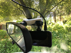 Dash cam mirror swivel mount
