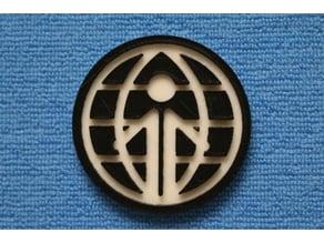 Classic Epcot Logo Coaster - World Showcase