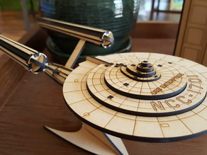 USS Enterprise Laser Cut