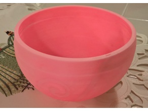 Spiral Yarn Bowl with Support Walls