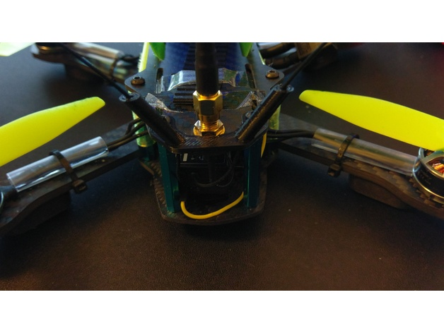 Receiver antenna mount for Drone Legion Quad by drnut - Thingiverse
