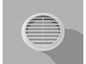 Vent Cover Louver round 100mm