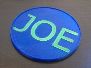 Customizeable Drink Coaster