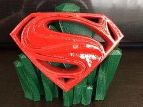 Superman logo w/ stand