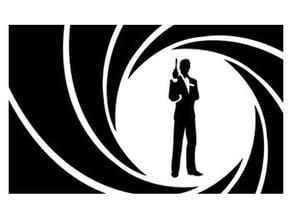 James Bond stencil
