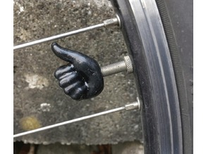 thumb up bicycle valve cap (presta)