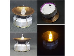 Brazier (tealight) for tabletop games