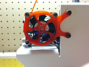 Printrbot Simple Metal extruder fan mount and switch housing