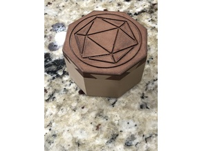 DoveTailed Octagonal Dice Box