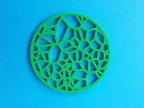 Drinks Coaster - Circular Voronoi