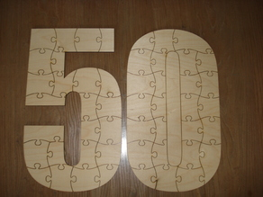 lasercut 50th birthday puzzle