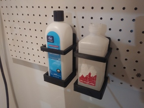Isopropyl alcohol rubbing alcohol or acetone bottle holder peg board