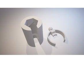Creality CR-8 Bowden tube holder & lock