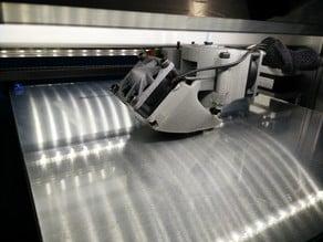 E3D V6 Hotend easy maintenance carriage for Felix 3D printer