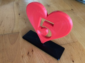 5 Year Heart Trophy