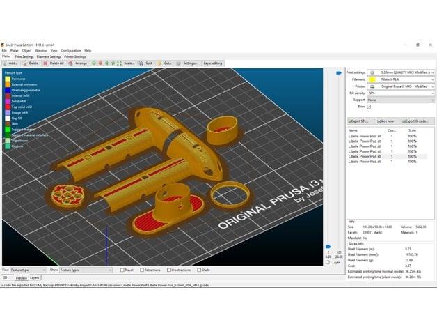 Power / Motor Pod for DLG Gliders, Libelle by Filatech