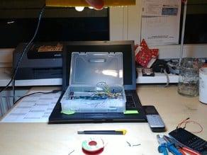 LED lamp case for 9 led units, 1440 lumen