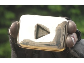 a real Curvy YouTube Play Button - in two halves for best printing (curvy playbutton)