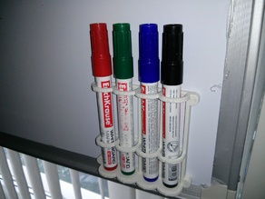 Dry Erase Marker Magnetic Holder