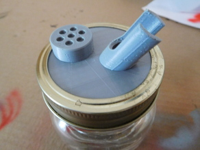 Airbrush Cleaning Pot/Stand for 68mm Mason Jar