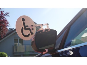 Rollstuhlhinweis fürs Auto / Information of wheelchair for car