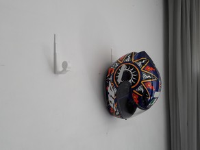 Simple motorbike Helmet wall support