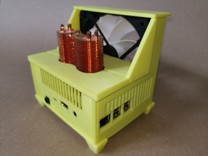 Raspberry pi case with 120mm fan and tower cooler