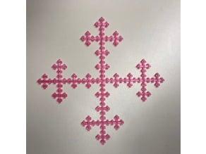 Vicsek Fractal Cross
