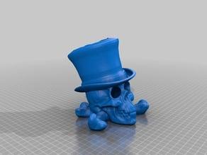 Top-Hat Skull Pen Cup