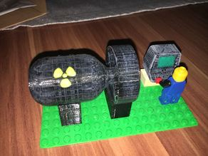 Lego Nuke with Stand (Project LEGO Vault)