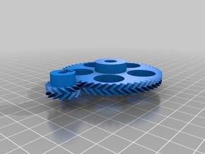 1 My Customized Parametric Herringbone Gear Set for Stepper Extruders