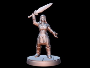 Barbarian Champion (15mm scale)