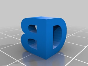 My Customized Two Letter Sculpture