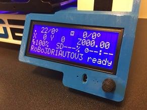Robo3D auto-levelling bed, reprapdiscount LCD case custom fit