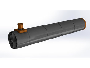 3D printed 150 mm f/8 Newtonian telescope