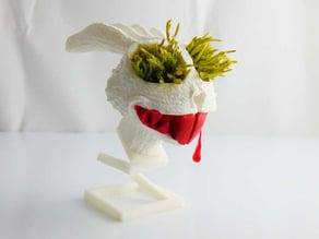 rabbit / bunny flower pot