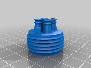 """Garden hose connector x4 adapter for 1/4"""" irrigation tubing"""