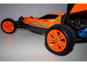 1:10 2WD Beadlock Rims (Tamiya Neo Fighter)
