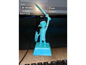 Statue of The Hero (Sliced, Alt Base)