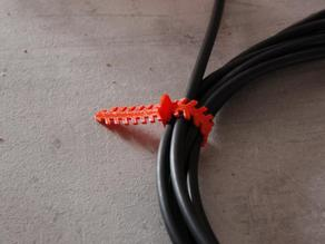 Flexible fixing collar